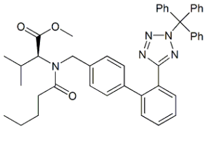 Valsartan Methyl Ester N2-Trityl Analog