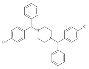 1,4-Bis[(4-chlorophenyl)phenylmethyl]piperazine