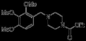 Trimetazidine N-Carboxylic Acid Ethyl Ester